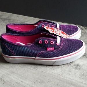 Vans Magenta Shimmer Sneakers